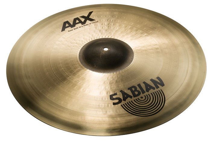 """21"""" AAX Raw Bell Dry Ride Cymbal in Natural Finish"""