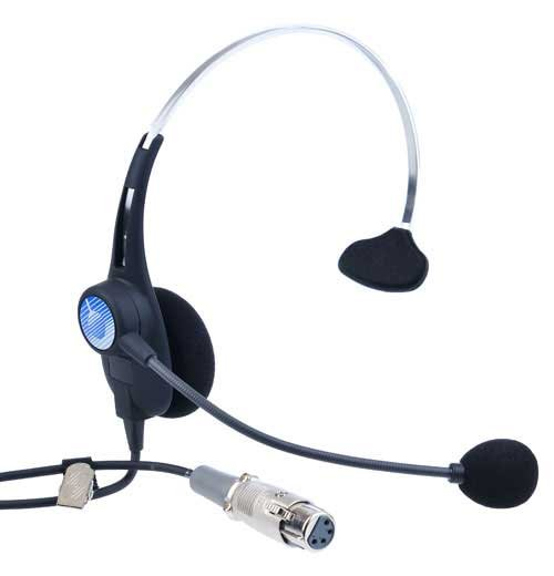 Headset with Dynamic Mic, Single Earmuff, 4-pin XLR-F