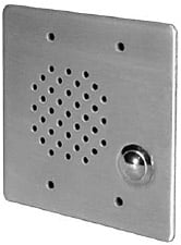Vandal-Resistant 2-Gang Intercom Plate with 25V Multi-tap Transformer