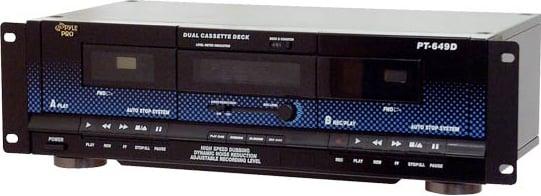 Pyle Pro PT649D Rack-Mount Dual Cassette Deck PT649D