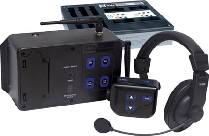 c8c5a45bcf8 Clear-Com CZ11433 4-Up DX100 Wireless Intercom System With CC-15 Headsets
