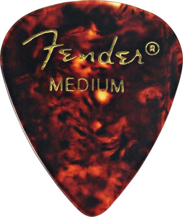 Fender 0980351 12-Pack of Premium Celluloid Guitar Picks 098-0351-XXX