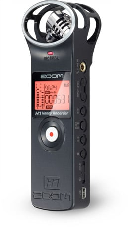 Handy Recorder with Stereo X/Y Microphone Configuration and Micro SDHC Card Slot