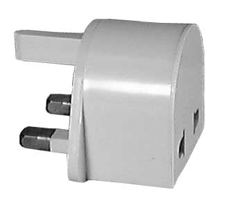 3 Flat Pin/British-Type Voltage Converter Adapter