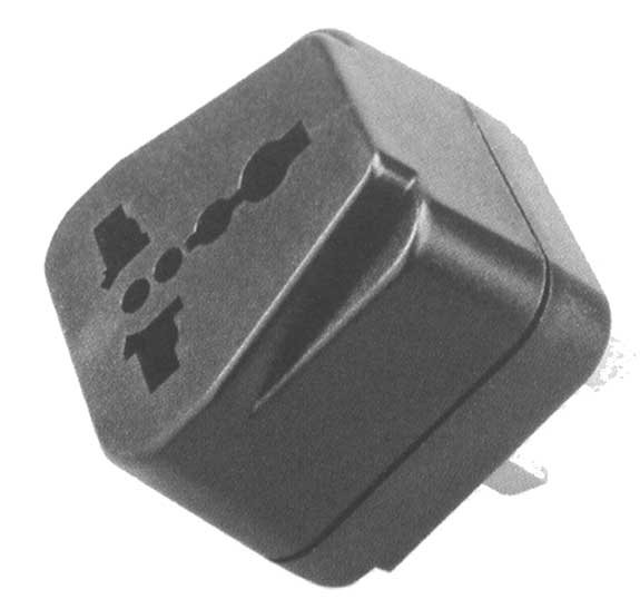 2 Flat Pin Plug/Universal Socket AC Power Adapter
