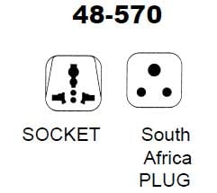 South Africa Plug/Universal Socket AC Power Adapter