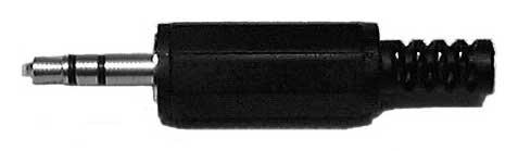 "3-Conductor 1/8"" Mini Stereo Phone Plug (Bulk Packaged)"