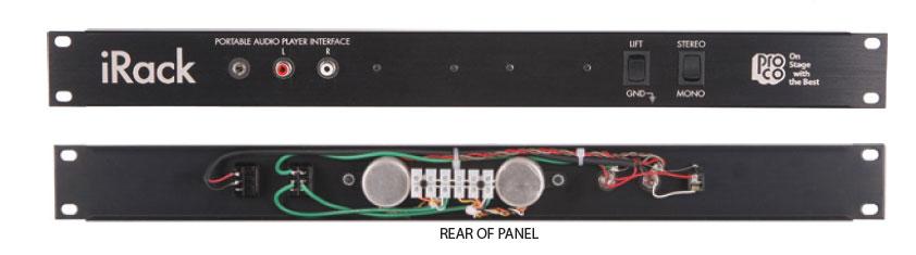 Pro Co iRack Portable Audio Player Interface Rack Panel IRACK
