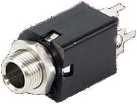 "1/4"" 2-Conductor Enclosed Jack with PC Terminals"