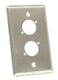 Wall Plate, Dual Gang, Stainless