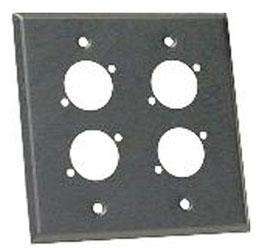 """Wall Plate, Dual Gang, 04"""", black aluminum"""