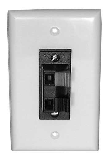 2-Position Terminal Solderless Wall Plate for Speakers