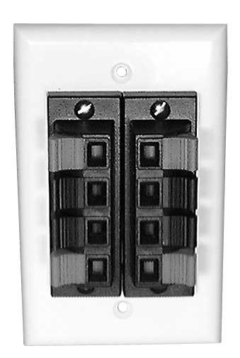 4-Position Terminal Solderless Wall Plate for Speakers