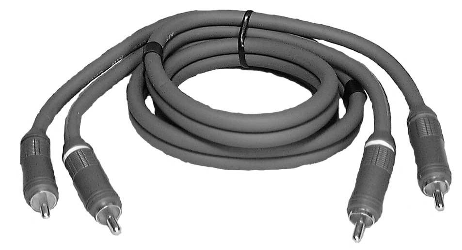 12 ft. OFC-Air Insulation Digital Stereo Audio/Video Cable (2x RCA - 2x RCA)