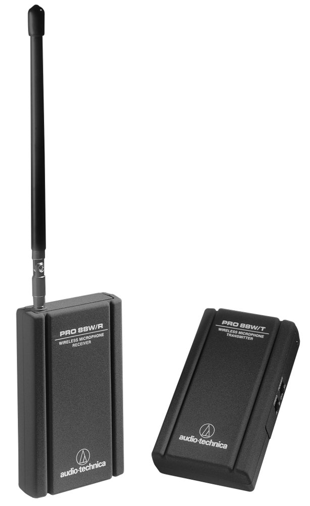 Wireless Microphone System for Camcorder with AT829mW Miniature Cardioid Clip-on Mic
