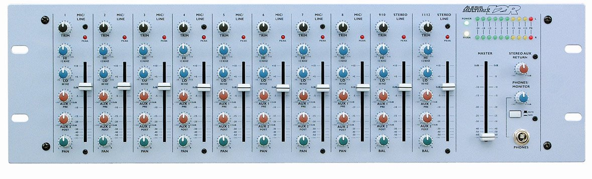 Alesis MultiMix 12R 12-Channel Rack-Mount Mixer with 8 Mic/Line and 2 Stereo In MULTIMIX-12R