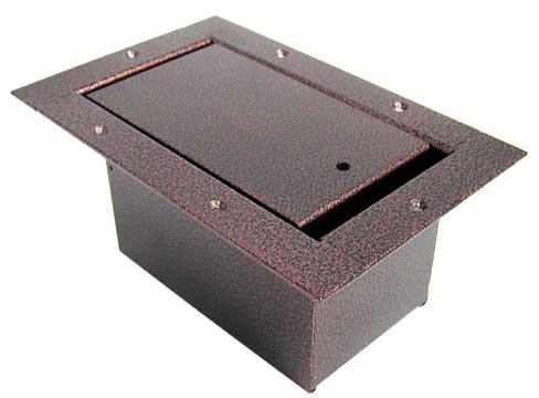 Vertical Half-Pocket Floor Box, Antique Coppervein Finish