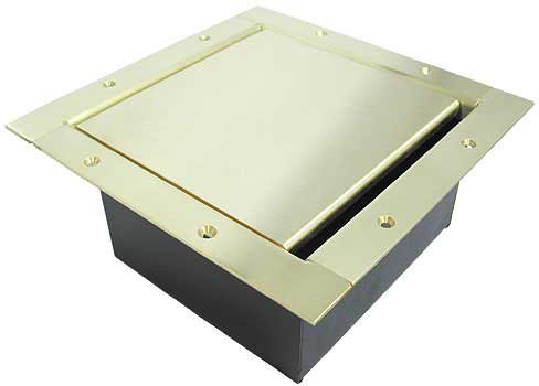 Full Stage Pocket, Standard Solid Brass Lid and Trim Bezel with Brushed Finish