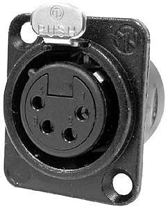 Neutrik D-Series 4-Pin Locking Female XLR Connector (#NC4FDL1-BAG), Connectrix