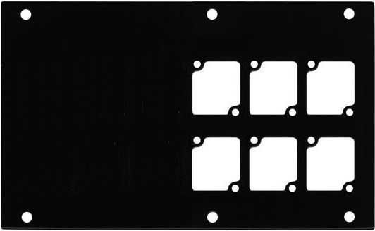 Aluminum Stage Pocket Panel, with 6 Connectrix Mounts, Black