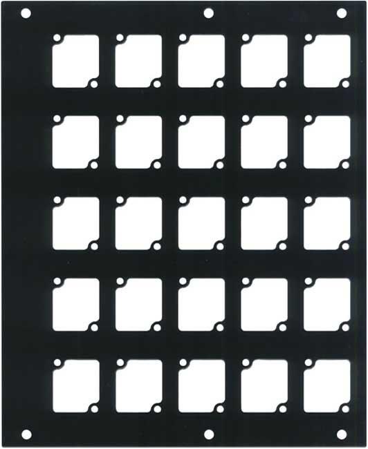 Aluminum CONNECTRIX Pocket Panel, with 25 CONNECTRIX Mounts