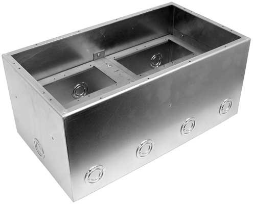"Stage Pocket Back Box, Extra Deep 8"", Double Wide"