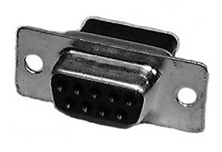 9-Pin Male D-Sub Connector Shell (No Blister Pack)