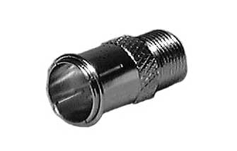 Push-On Male F to Female F Connector Adapter (Nickel-Plated)
