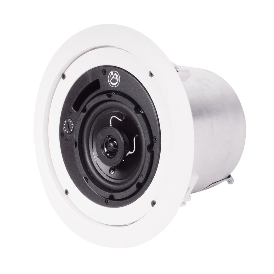 """4"""" Coaxial Speaker System with 70/100V 16W Transformer, Priced Individually, Sold in Pairs"""