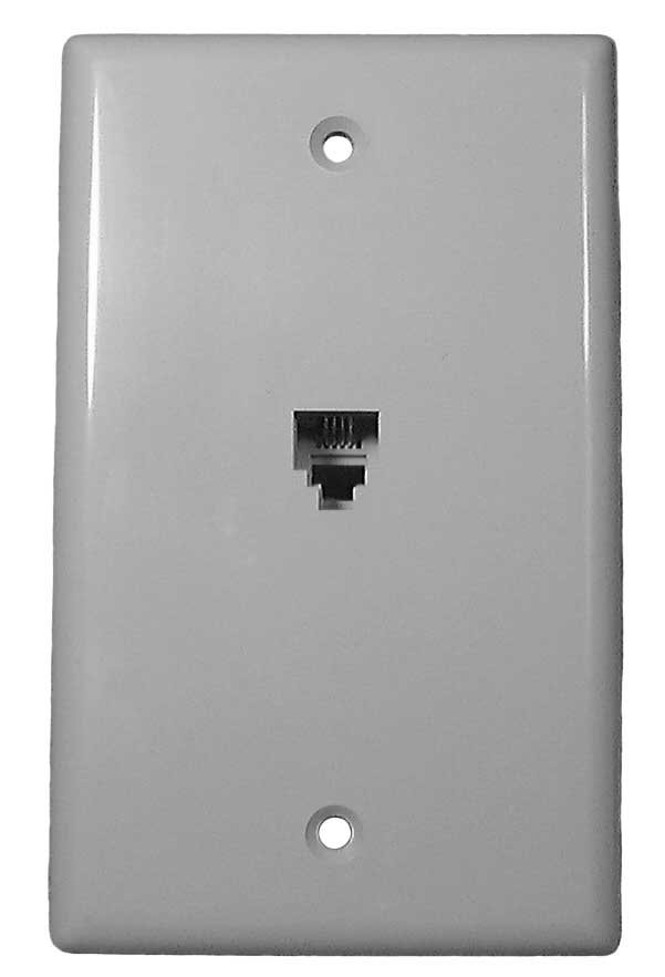 Ivory 4-Conductor Telephone Wall Plate