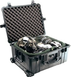 Large Rolling Case with Handle WITHOUT Foam