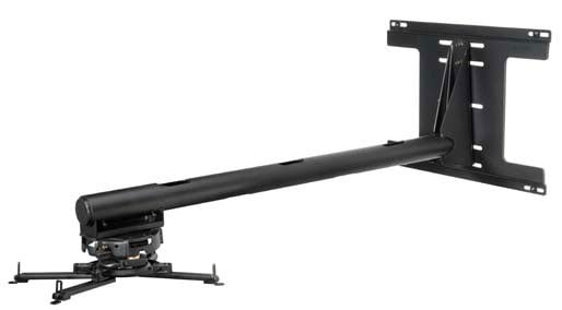 Short Throw Projector Arm Mount (WITHOUT Plate, Black)