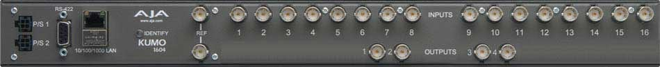 Compact SDI Router, 16 Inputs x 4 Outputs