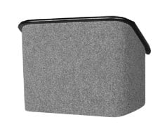 Grey Carpeted Tabletop Lectern, Black Trim