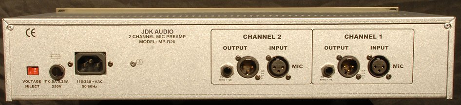 Microphone Preamp,  Dual Channel