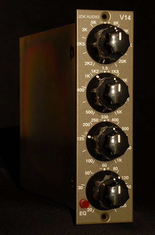 Equalizer, 500 Series, 4-band, single channel