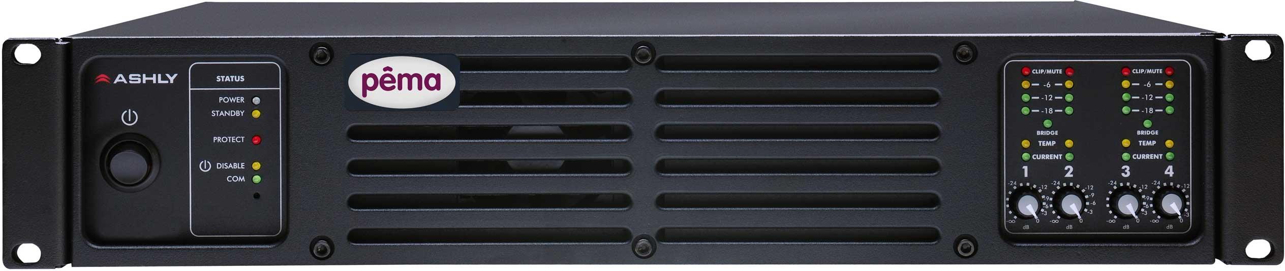 Power Amplifier, 4x125W @ 70V, w/8x8 DSP Matrix, CobraNet Added