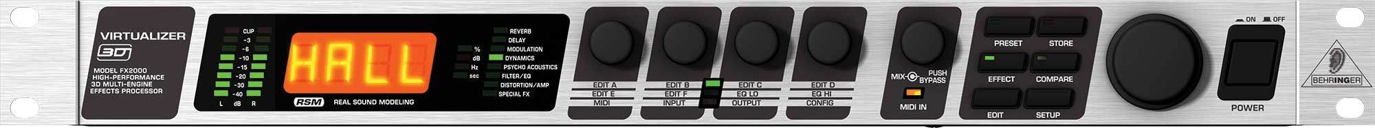 Behringer FX2000-VIRTUALIZER Multi-Effects Processor FX2000-VIRTUALIZER