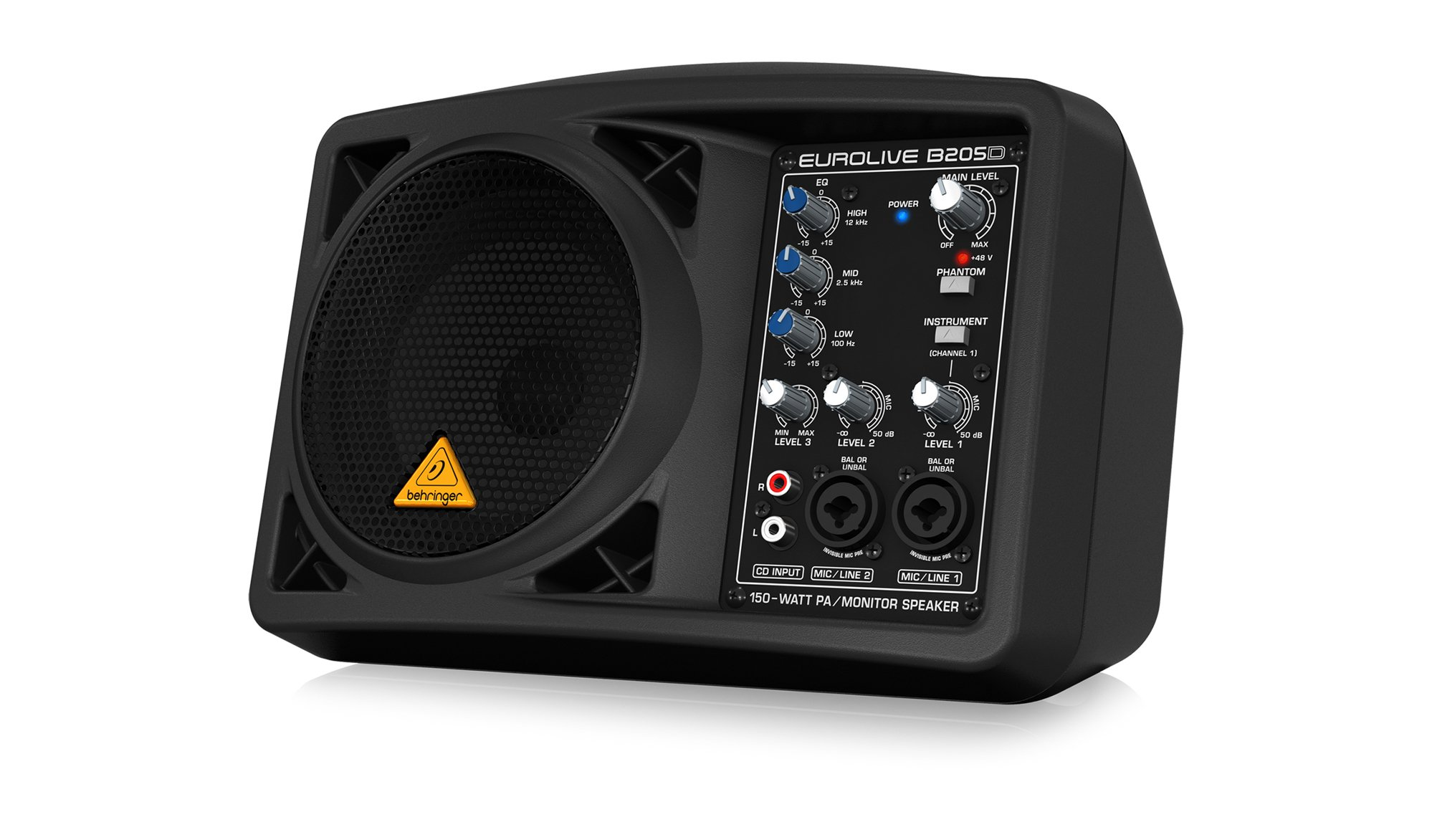 "Behringer B205D-EUROLIVE 150 Watt Active PA/Monitor Speaker with 5.25"" Speaker B205D-EUROLIVE"