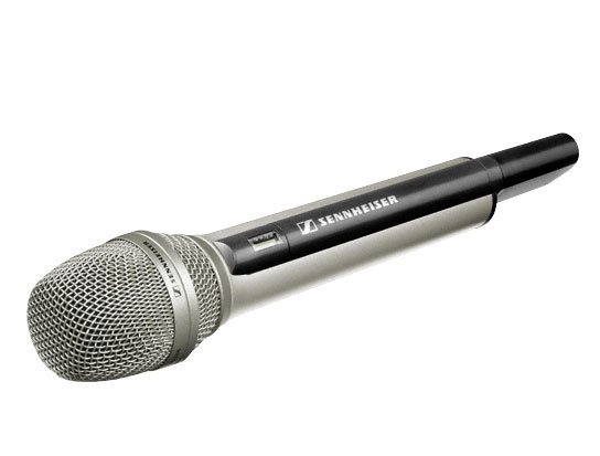 Sennheiser Handheld Transmitter, Nickel Finish, Body Only (requires battery pack and capsule)