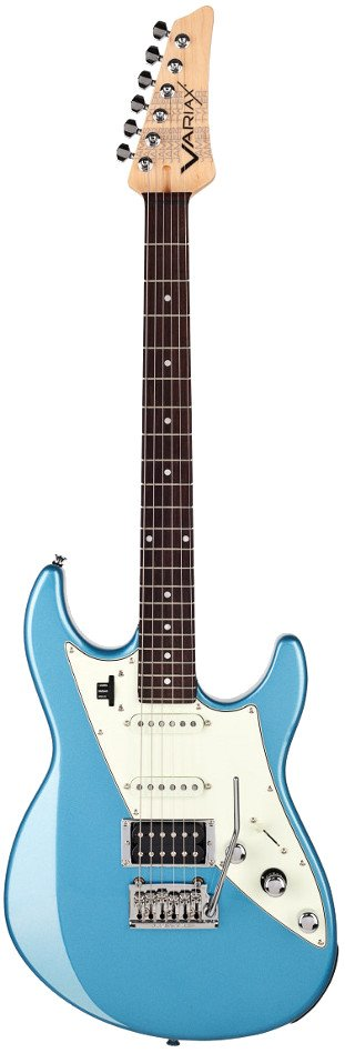 James Tyler Double-Cutaway HSS Electric Guitar in Lake Placid Blue