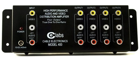 1x4 Composite Audio/Video Distribution Amplifier