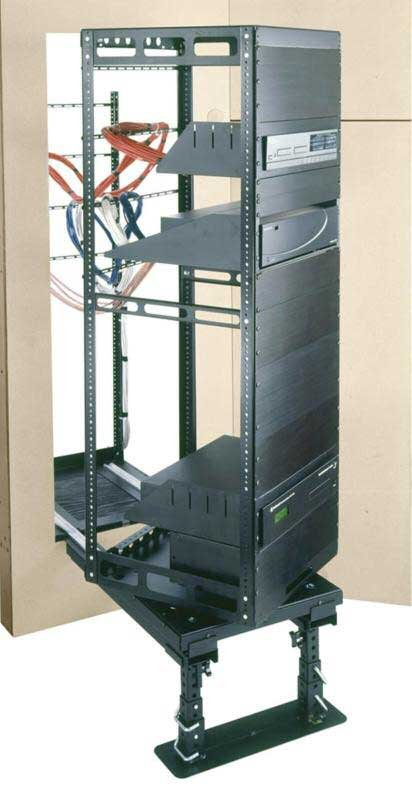 29-Space Rotating In-Wall Equipment Rack