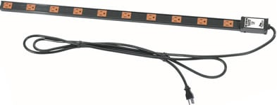 20 Outlet, 20 Amp Thin Power Strip (with Twist Lock Plug)