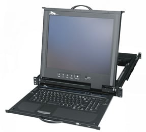 Rackmount LCD, Keyboard, Touchpad with 16-Port KVM Switch