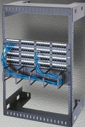 "15-Space, 12"" Deep Wall-Mount Relay Rack (Black)"