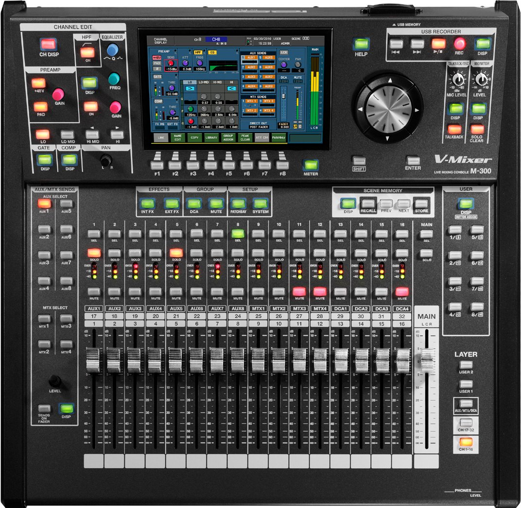 roland system group m 300 32 channel v mixer compact live digital mixer full compass. Black Bedroom Furniture Sets. Home Design Ideas