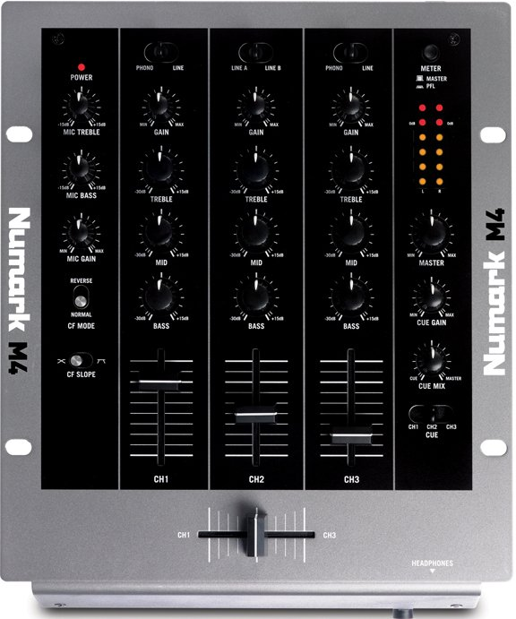 3-Channel Scratch Mixer (with 2 Phono/Line Inputs)