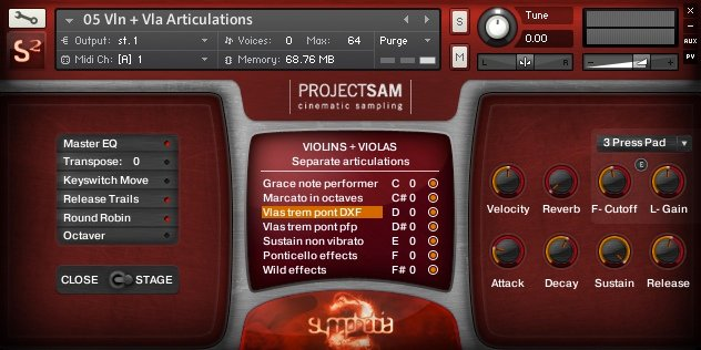 Symphonic Virtual Instruments and Effects Software