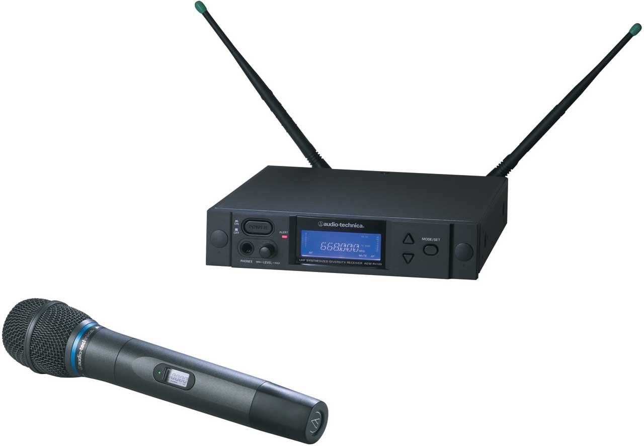 Wireless Handheld Microphone System, AEW-T3300 Cardioid Condenser Mic, Band C: 541.500 to 566.375 MHz